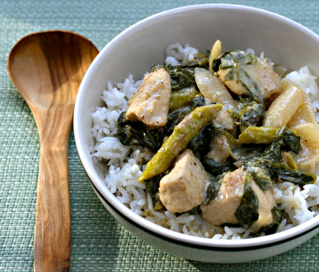 Thai green basil curry chicken