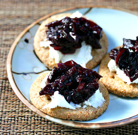 Apple-blueberry chutney, perfect for Thanksgiving.
