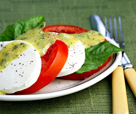 recipe: basil dressing for caprese salad [21]