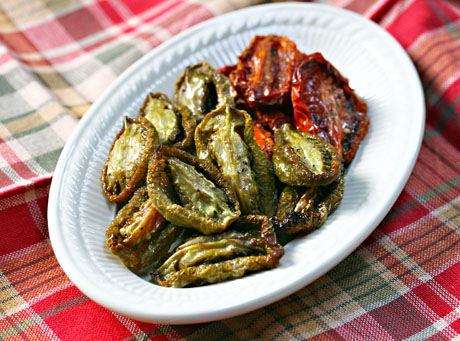 Slow-roasted-green-tomatoes