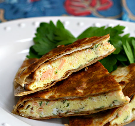 Breakfast-quesadilla-with-smoked-salmon-and-brie
