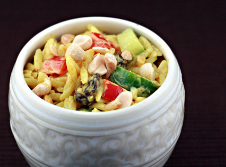 Cold curried orzo