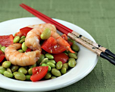 Shrimp-edamame-salad