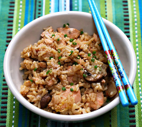 Salmon-fried-rice