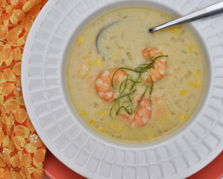Sweet Corn Soup with Shrimp by Kitchen Parade 2011-460