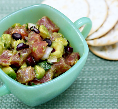 Recipe for spicy tuna and avocado ceviche - The Perfect Pantry®
