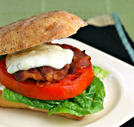 If this isn't the world's best bacon, lettuce and tomato sandwich, it...