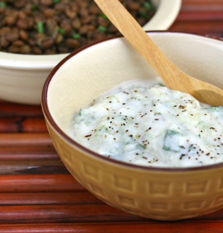 The perfect pantry recipe for raita indian yogurt and cucumber raita indian yogurt and cucumber forumfinder Image collections