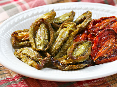 Slow-roasted-green-tomatoes-detail
