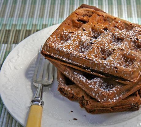 Chocolate-chocolate-chip-waffles