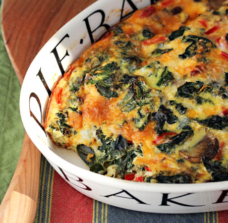Kale-mushroom-and-caramelized-onion-breakfast-casserole