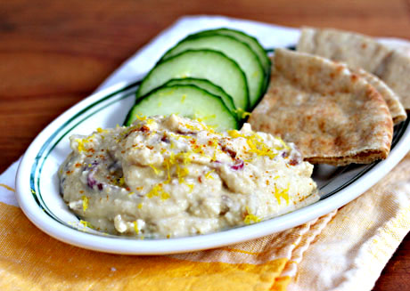 Lemon-onion-hummus