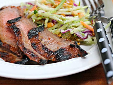 Spicy-asian-flank-steak-detail