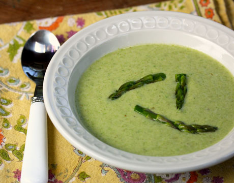 Recipe for chilled green curry coconut asparagus soup - Soup Chick®