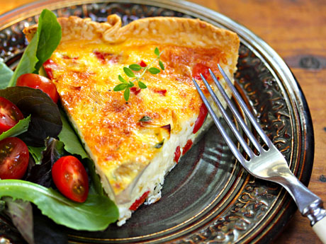 Leek-and-mushroom-quiche-slice
