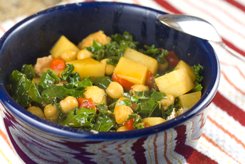 Thirty minute chickpea stew, from Macheesmo, for Meatless Monday..