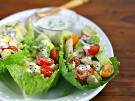 ... for chicken and avocado lettuce boats with buttermilk Dijon dressing