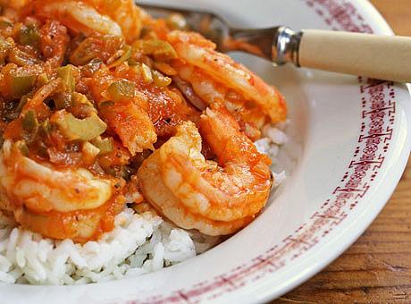 Shrimp-picadillo