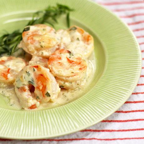 Shrimp-with-tarragon-and-yogurt-sauce-square