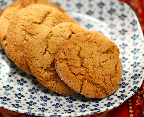 Chewy molasses spice cookies.