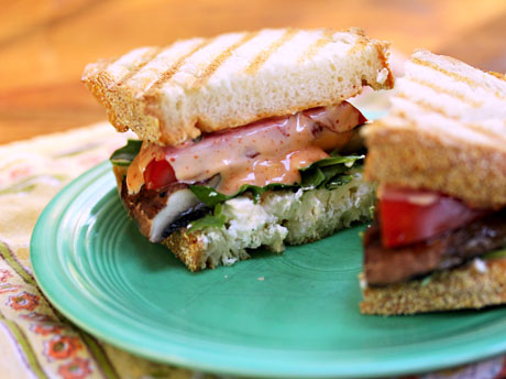 Recipe for grilled portobello mushroom and goat cheese sandwich with ...