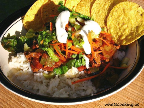 Budget-friendly chili con carne (with turkey), from What's Cooking, Mexico?