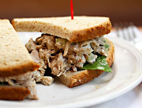 Chicken salad with flavors of the Middle East.