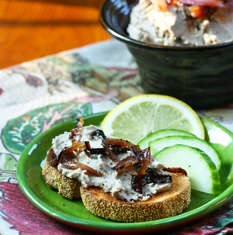 Smoked bluefish paté.
