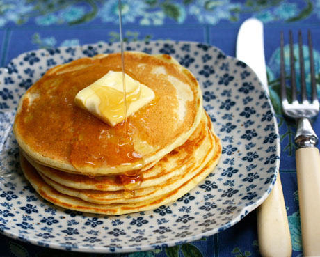 Lemon buttermilk pancakes, from The Perfect Pantry.