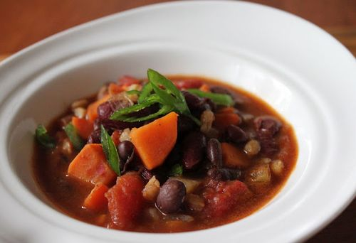Fiery Red Bean Chili, from Jeanette's Healthy Living.