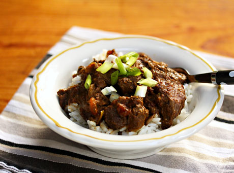 Use your slow cooker to make this Sindhi beef curry.