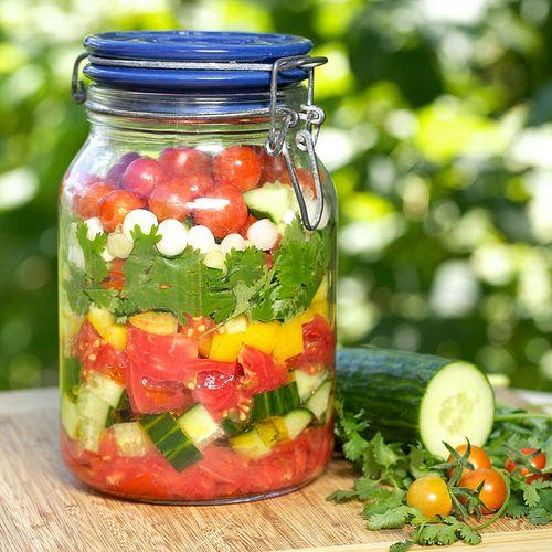 Garden gazpacho in a jar, from Apron Strings.