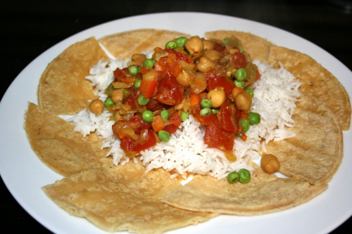 Slow cooker vegetarian curry for Meatless Monday, from A Year of Slow Cooking (on Soup Chick).
