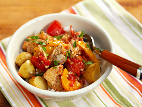 Slow cooker Basque tuna with potatoes and peppers, from The Perfect Pantry
