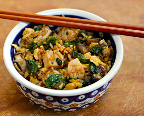 ... kale turkey and kale fried rice uses the last of the thanksgiving