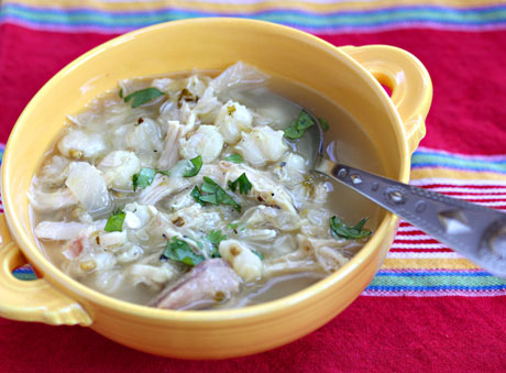 Green-posole-soup-with-chicken