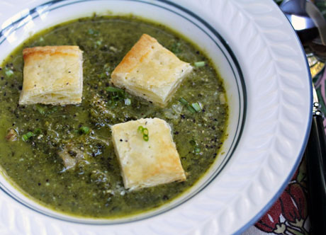Try this kale soup with broccoli or broccoli rabe. Just don't forget the bacon!