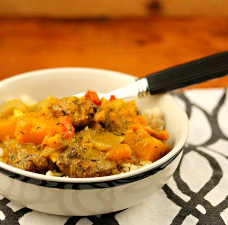 Caribbean chicken curry: like jerk chicken in a bowl!