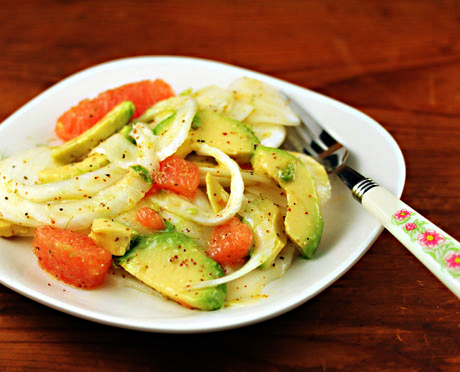 ... fennel, avocado and grapefruit salad with orange vinaigrette {vegan