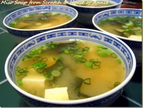 Miso soup from scratch, from House of Annie (on Soup Chick).