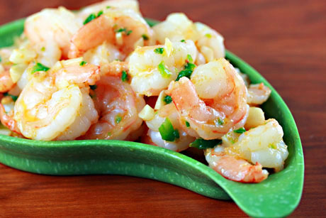Blazing hot shrimp, or not quite that hot, to your taste! On The Perfect Pantry.