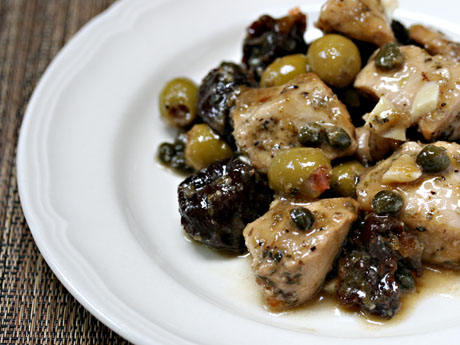 Chicken Marbella, on The Perfect Pantry.