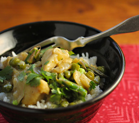 Green curry fish, on The Perfect Pantry.