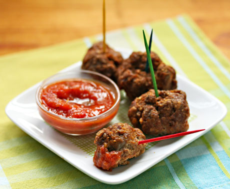 Rhode Island weiner spice meatballs (perfect party appetizer), from The Perfect Pantry.