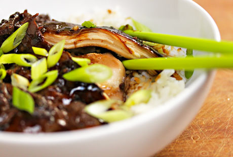 Slow cooker soy braised chicken, on The Perfect Pantry.