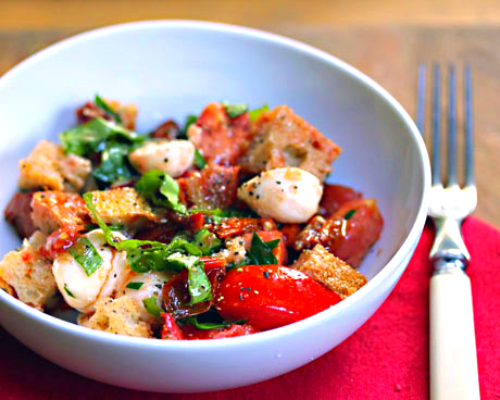 Two-tomato Tuscan bread salad, from The Perfect Pantry.