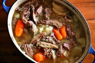 Irish lamb stew, from Simply Recipes (on Soup Chick).