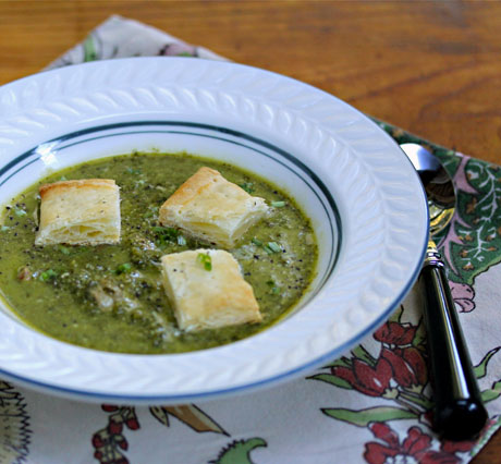 Kale soup with bacon and cheese would be just as good with broccoli!