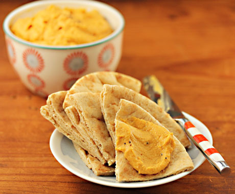 "Pumpkin ""hummus"", from The Perfect Pantry."