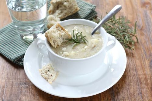 Potato rosemary soup, budget-friendly and hearty (Soup Chick).